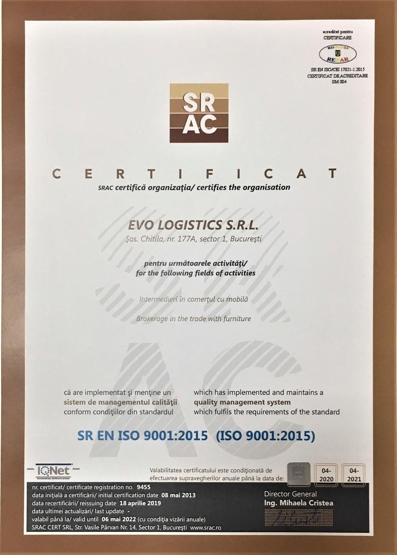 Certificat calitate SRAC